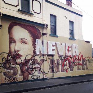 melbourne graffiti, urban enhancement, ruined street art