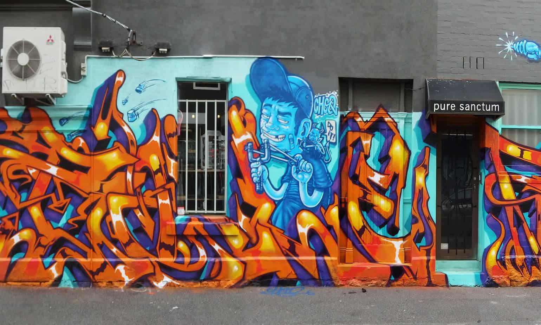 bronze snake, bronzesnake, urban enhancement, graffiti, street art
