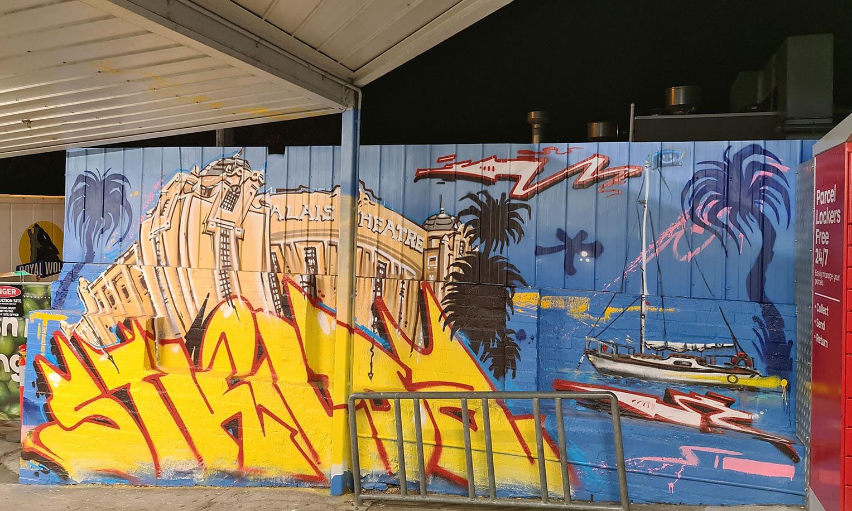street artist, street art, graffiti, graffiti artist, street artists for hire, urban enhancement, st kilda, graffiti in st kilda